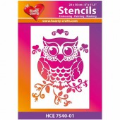 Stencil A4 Big Owl