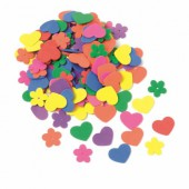 Rubber foam flowers / hearts