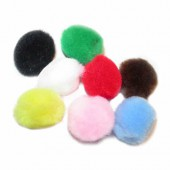 Pompons 15mm, mix, 60 pces