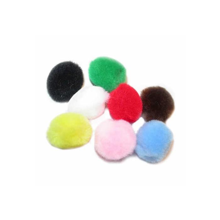 Pompons mix, 15mm, 60 pces
