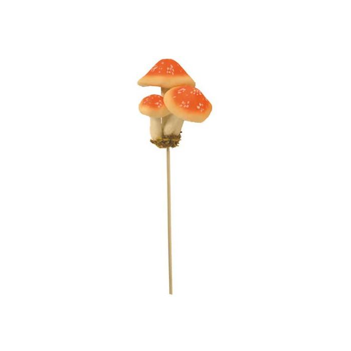 Mushrooms, orange, +/- 22cm, 2 pcs