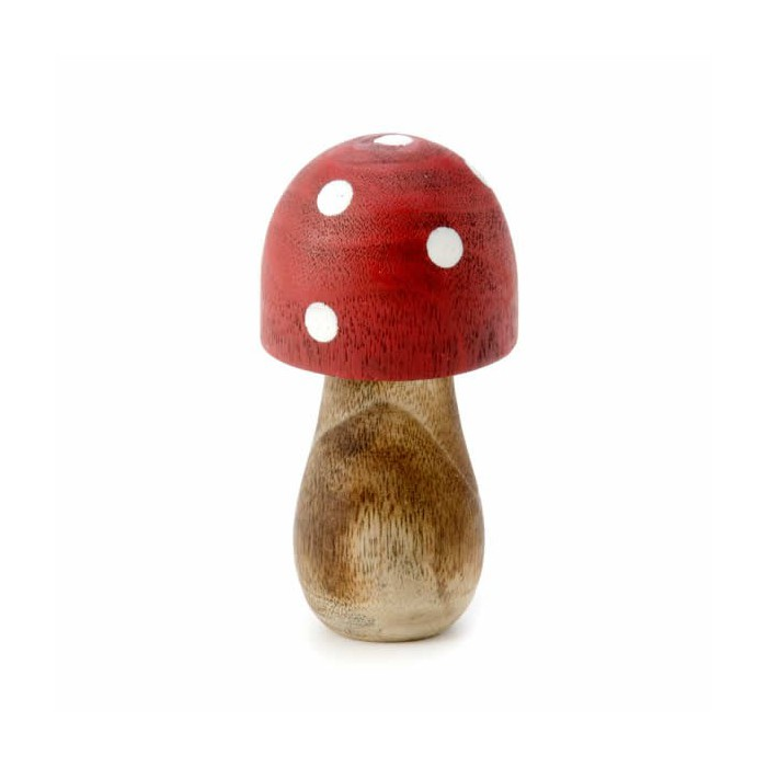 Wooden mushroom, 6.5x3cm, 1 pce
