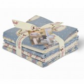 Gütermann Fat Quarters - Pemberley blue/white/rose