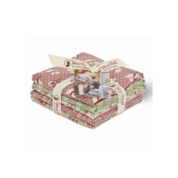 Gütermann Fat Quarters - Pemberley rose/green