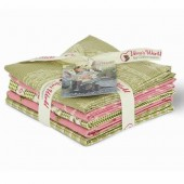 Gütermann Fat Quarters - Lizzy's Garden rose/green