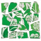 Retro Mosaic, vert/argent