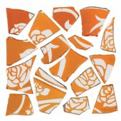 Retro Mosaic, orange/argent