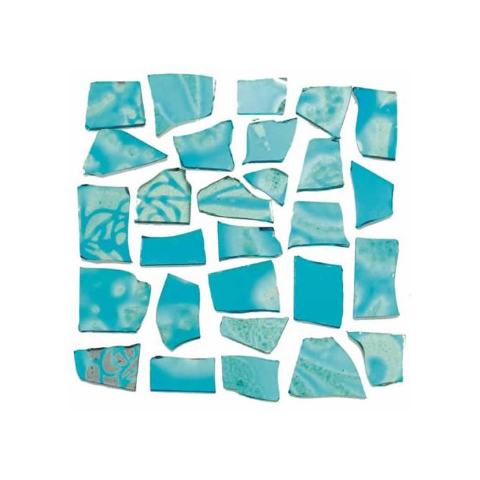 Retro Mosaic, turquese/silver