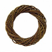 Wicker wreath, dark brown Ø25cm