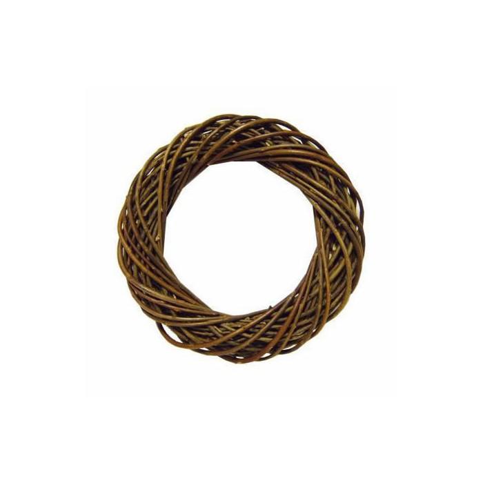 Wicker wreath, dark brown Ø25cm
