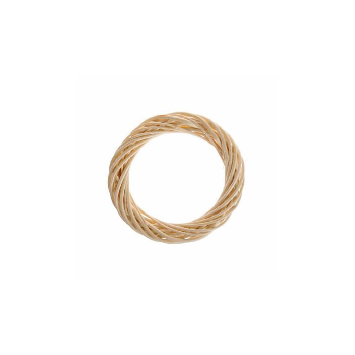 Wicker wreath, light brown Ø20cm