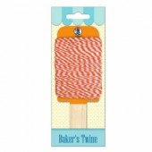 Baker's twine, ficelle bicolore orange/blanc, 15m