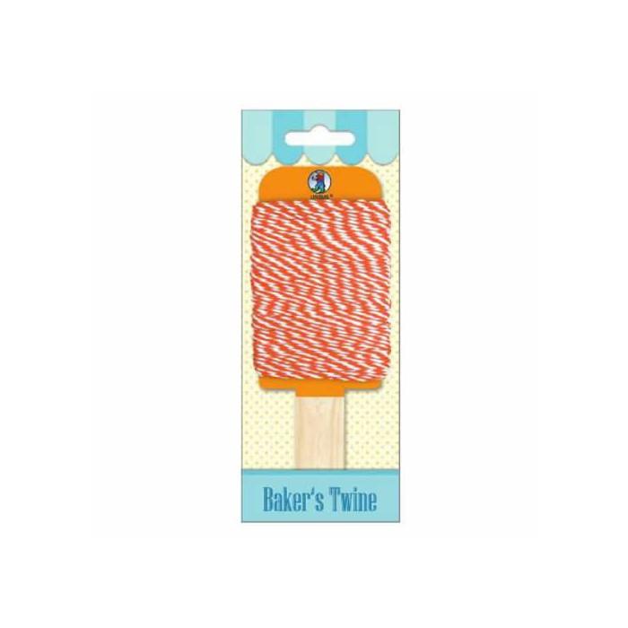 Baker's twine, orange-white, 15m