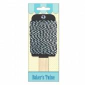 Baker's twine, ficelle bicolore noir/blanc, 15m