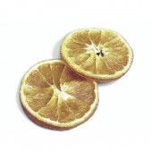 Orange slices, +/- 50g