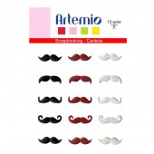 Artemio Brads moustaches 20mm, 15 pcs