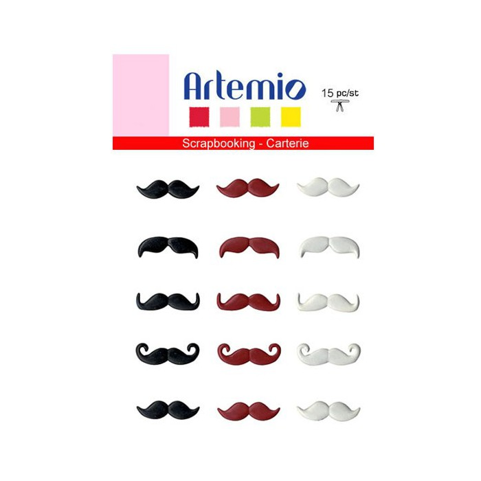 Artemio Brads - Mustache 20mm, 15 pcs