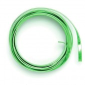 Flat aluminium wire, 1.2x4mm, 2m, light green