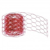 Mesh alu wire, 50mm/2m, red