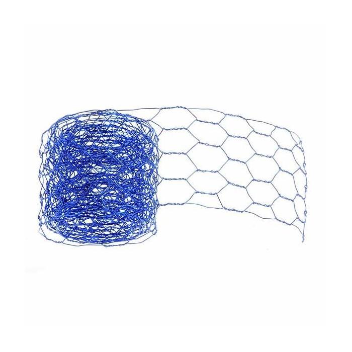 Mesh alu wire, 50mm/2m, blue