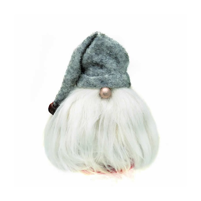 Kit felted gnome, grey