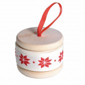 Poinsettia ribbon ivory, 30mm/3m