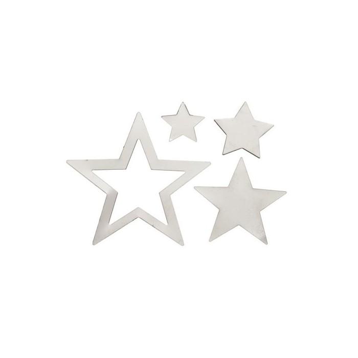Metallic Stars, rust,  1.4-4cm, 40 pcs