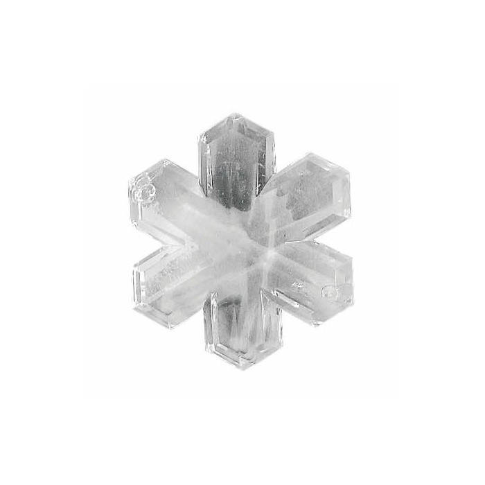 Acrylic-facet snowflake, 3.5cm, 3 pcs