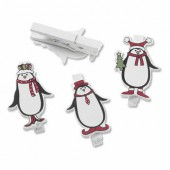 Pincettes Noël, Pinguins, 5cm, 6 pcs