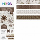 Quilling Stripes brown/cream mix patterned