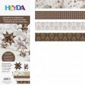 Bandes de papier pour Quilling - mix motifs crème/brun