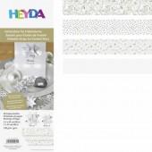 Bandes de papier pour Quilling - mix motifs blanc
