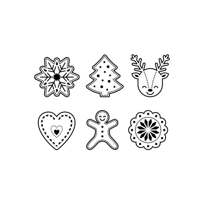Clear stamps, Christmas shapes