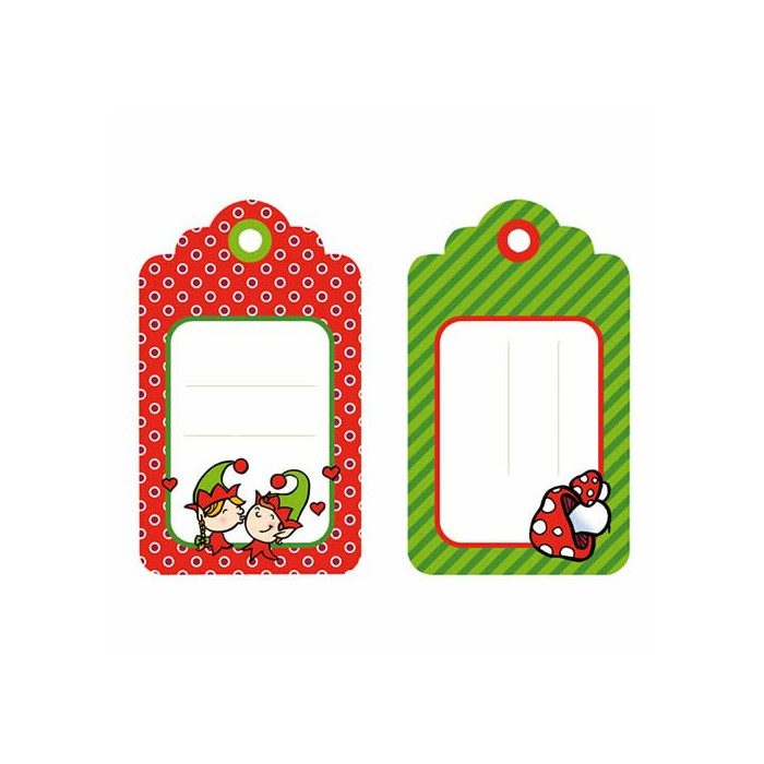 Artemio - 6 labels Christmas Lutins