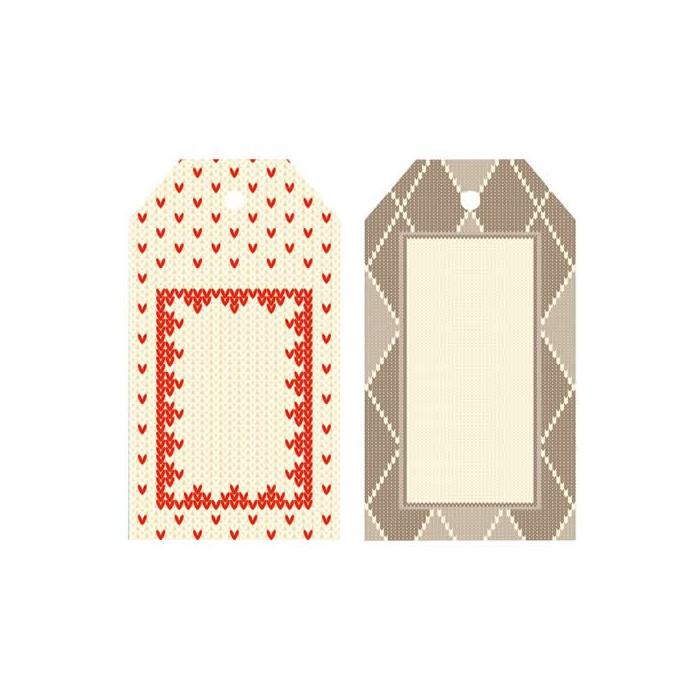 Artemio - 6 labels Christmas Jacquard