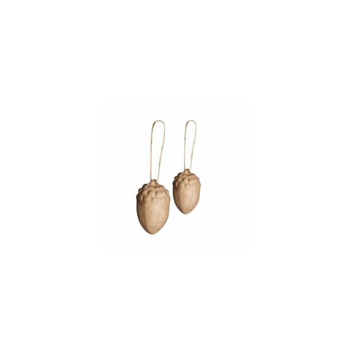 Cardboard acorn, 2 pcs