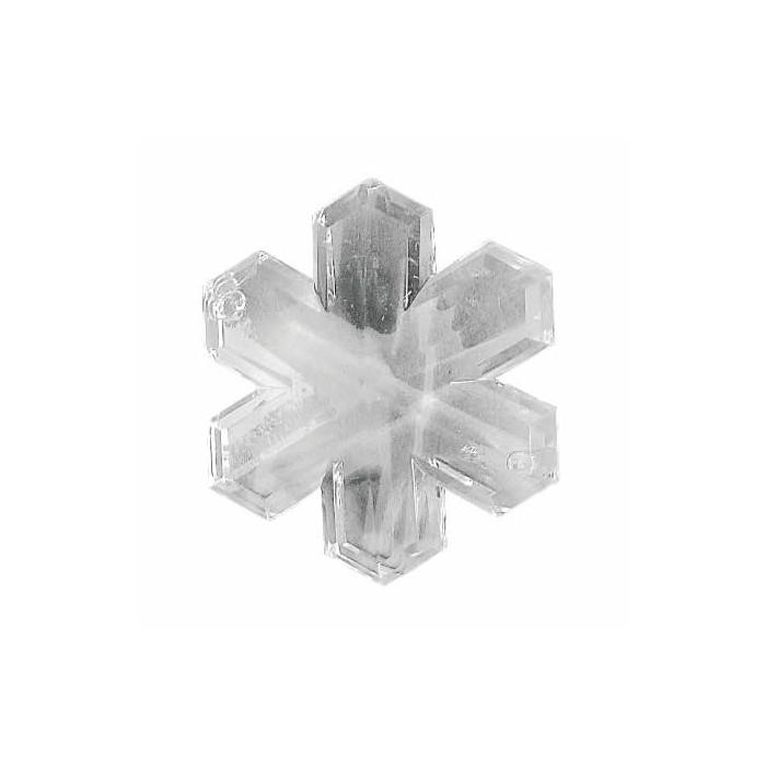 Acrylic-facet snowflake, 1.9cm, 12pces