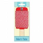 Baker's twine, ficelle bicolore rouge/blanc, 15m