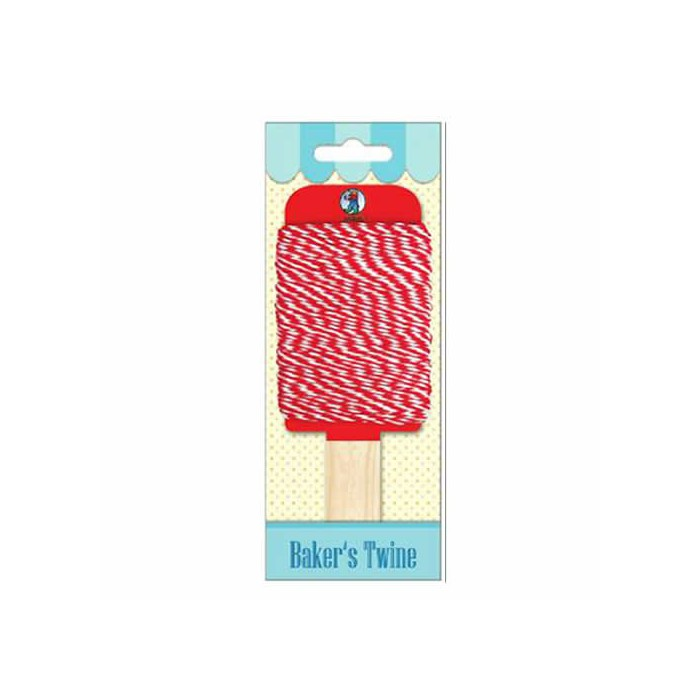 Baker's twine, red-white, 15m