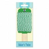 Baker's twine, ficelle bicolore vert/blanc, 15m
