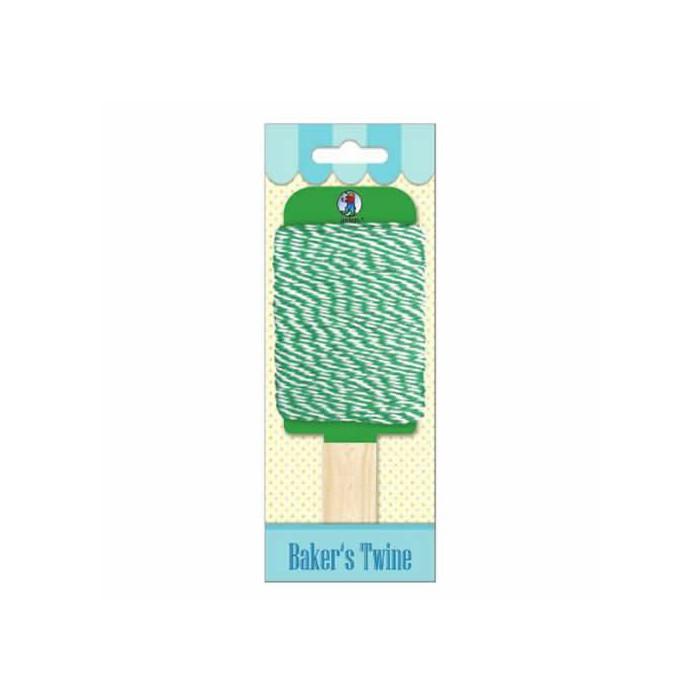 Baker's twine, green-white, 15m