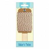 Baker's twine, ficelle bicolore brun clair/blanc, 15m