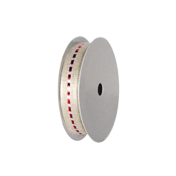 Linen ribbon with dot, 13mm/1m