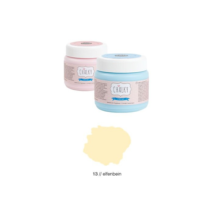 Chalky paint 150ml, ivory