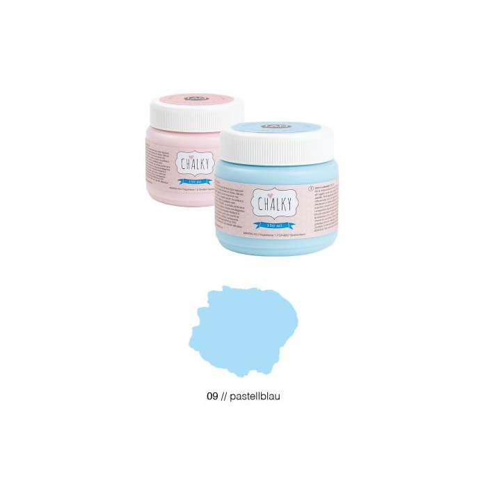 Chalky paint 150ml, pastel blue