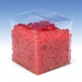 Wax cubes, 500g, red