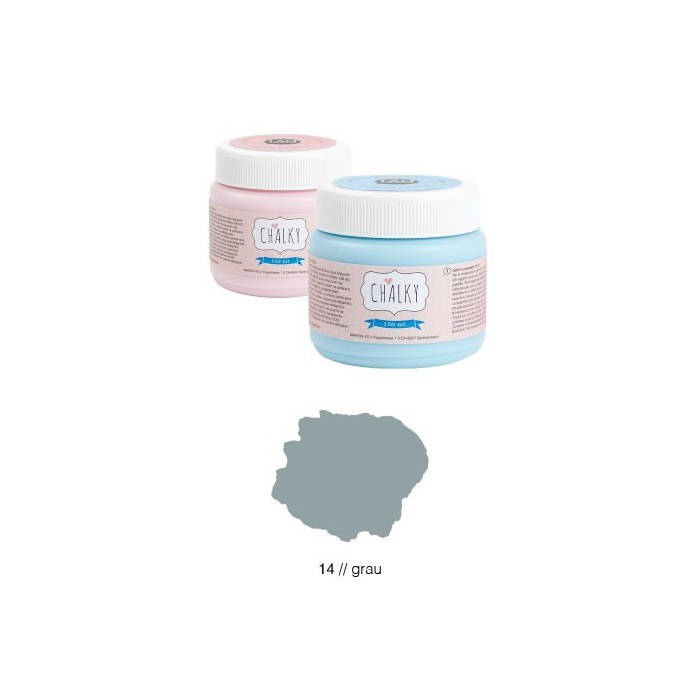 Chalky paint 150ml, grey