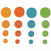 Artemio - Fun Buttons, 36 pcs, 9-20mm