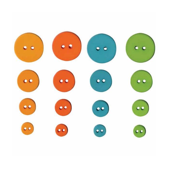 Artemio - Fun Buttons, 36 pcs, 9-20mm