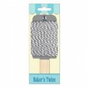 Baker's twine, ficelle bicolore gris/blanc, 15m